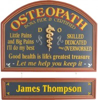 Osteopath Sign | Osteopath Gift | Osteopath Office Plaque