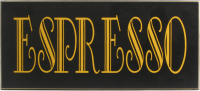 Espresso Sign Wall Decor