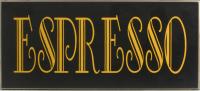 Espresso Sign Wall Decor