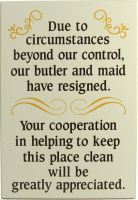 Housekeeping Sign | Home Decor