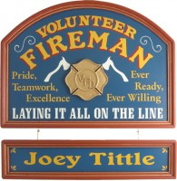 Volunteer Fireman Gift | Volunteer Fireman Sign | Volunteer Fireman Plaque