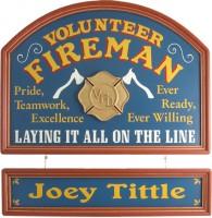 Volunteer Fireman Gift | Volunteer Fireman Sign | Volunteer Fireman Plaque